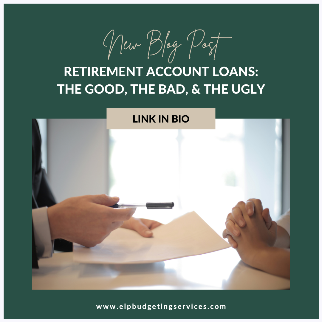 new blog post about retirement account loans